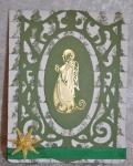 carte Noël pop up 3D crèche 002 bis