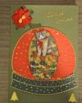 carte de Noël 3D chat 001