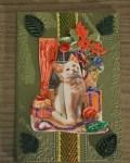 carte de Noël 3D chat 013
