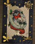 carte de Noël 3D chat 020