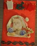 carte de Noël 3D chat 021