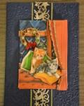 carte de Noël 3D chat 034