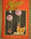 carte de Noël 3D chat 038