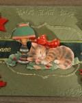 carte de Noël 3D chat 046