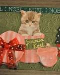 carte de Noël 3D chat 051