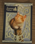 carte de Noël 3D chat 003