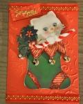 carte de Noël 3D chat 016