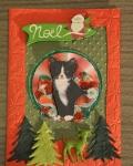 carte de Noël 3D chat 026