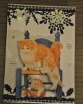 carte de Noël 3D chat 027