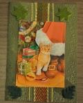 carte de Noël 3D chat 028