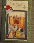 carte de Noël 3D chat 029