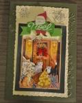 carte de Noël 3D chat 030