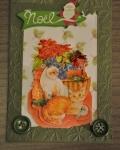 carte de Noël 3D chat 032