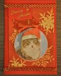 carte de Noël 3D chat 037