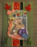 carte de Noël 3D chat 039