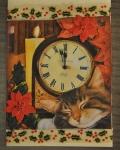 carte de Noël 3D chat 041