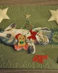 carte de Noël 3D chat 045