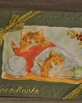 carte de Noël 3D chat 050