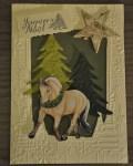 carte de Noël 3D cheval 001