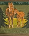 carte de Noël 3D cheval 006