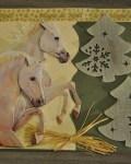 carte de Noël 3D cheval 007
