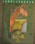 carte de Noël 3D cheval 004