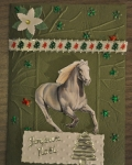 carte de Noël 3D cheval 005