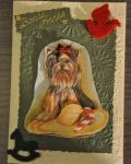 carte Noël 3D chien 013