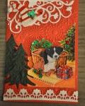 carte Noël 3D chien 016