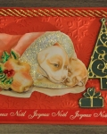 carte Noël 3D chien 018