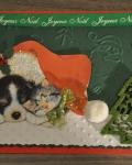 carte Noël 3D chien 020