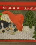 carte Noël 3D chien 021
