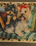 carte Noël 3D chien 022