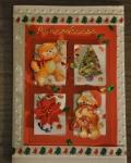 carte Noël 3D ours 008