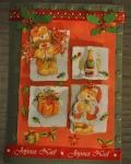 carte Noël 3D ours 009