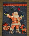 carte Noël 3D pere noel 026